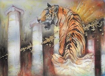 Tiger and Columns